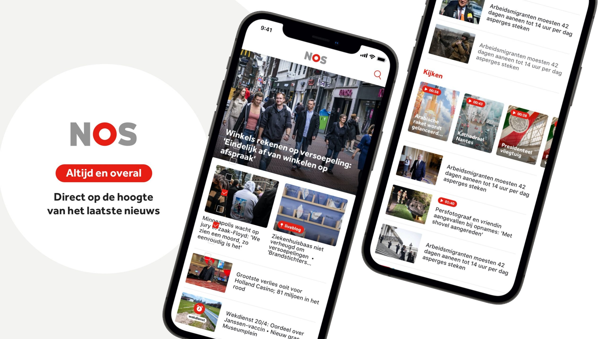 NOS.nl en de NOS-app vernieuwd